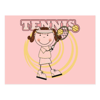 TENNIS - Brunette Girl Tshirts and Gifts Postcard