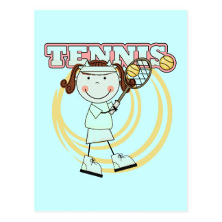 TENNIS - Brunette Girl Tshirts and Gifts Post Card