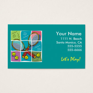 """Tennis """"Business"""" Card"""