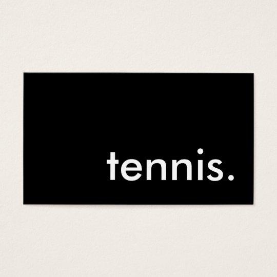 tennis. business card