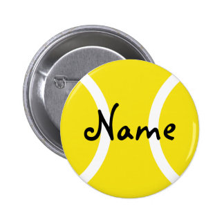 Tennis buttons with customizable name