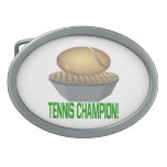 Tennis Champion 1.png Oval Belt Buckle