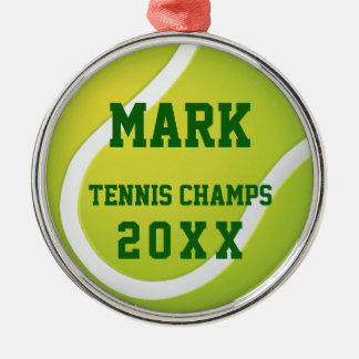 Tennis Champs 20XX | Cool Sport Gifts Christmas Ornament