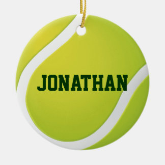 Tennis Champs 20XX   Personalizable Sport Gifts Round Ceramic Decoration
