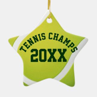 Tennis Champs 20XX   Sport Best Gifts Ceramic Star Decoration