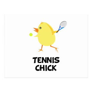 Tennis Chick Postcard