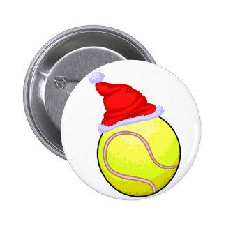 Tennis Christmas 6 Cm Round Badge
