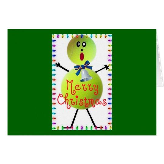 Tennis Christmas Cartoon Card