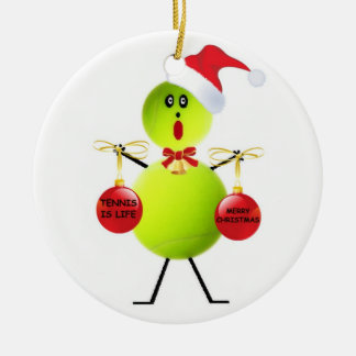Tennis Christmas Christmas Ornament