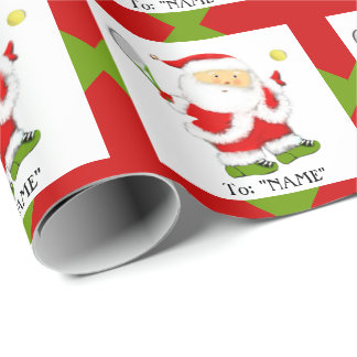 Tennis Christmas Gift Wrapping Paper