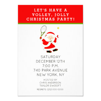 Tennis Christmas Party Invitations