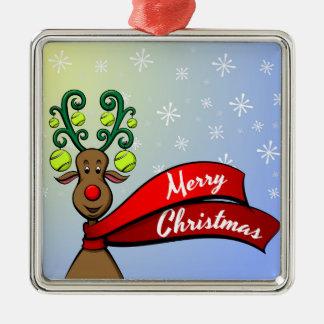 Tennis Christmas Reindeer Christmas Ornament