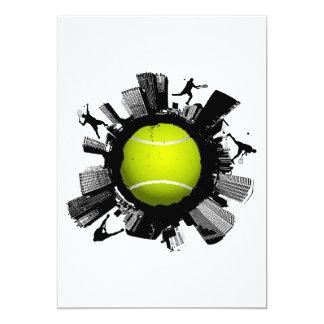 Tennis City 13 Cm X 18 Cm Invitation Card