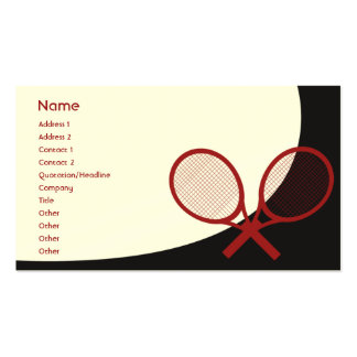 Tennis - Classic Pack Of Standard Business Cards