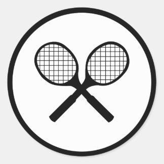 Tennis Classic Round Sticker