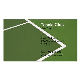 Tennis Club Business Card Business Card Template