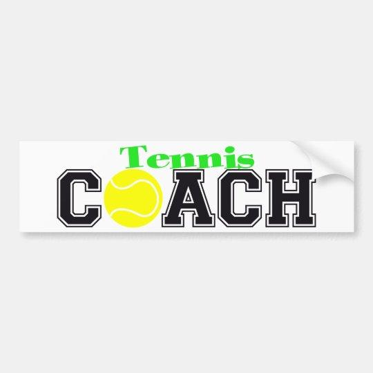 Tennis Coach Bumper Sticker