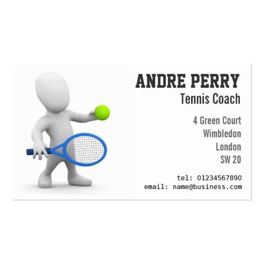 Tennis Coach Business Card Templates
