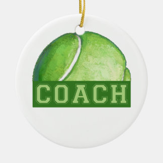 Tennis Coach Christmas Ornament