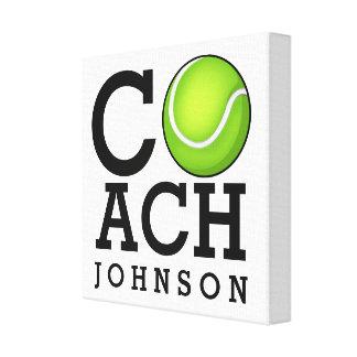 Tennis Coach Custom Name Canvas Print