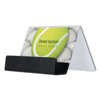 Tennis Coach Desk Business Card Holder