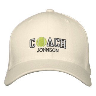 Tennis Coach Embroidered Baseball Cap