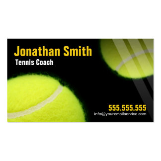 Tennis Coach For Tennis Lessons Pack Of Standard Business Cards