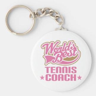 Tennis Coach Gift Key Ring