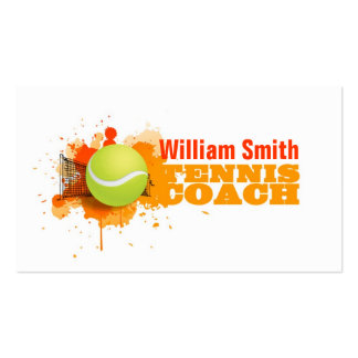 Tennis Coach Pack Of Standard Business Cards
