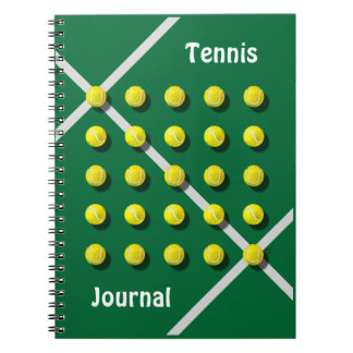 Tennis Coach, personalised Spiral Notebook