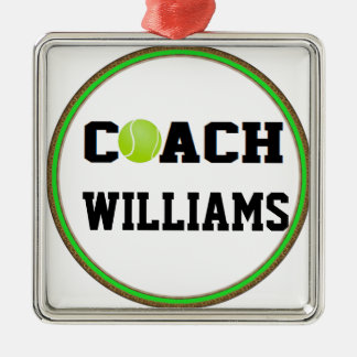 Tennis Coach - Personalized Christmas Ornament