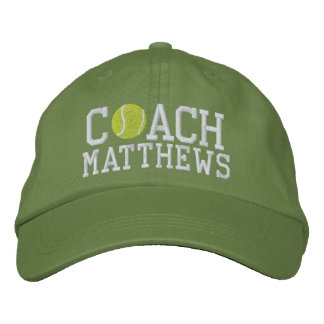 Tennis Coach Personalized Embroidered Baseball Caps