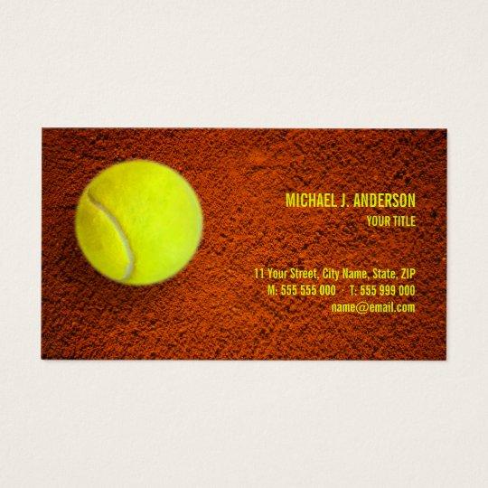 Tennis Coach Sports Business Card