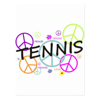 Tennis Colored Peace Signs Postcards