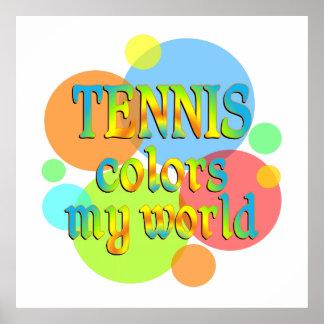 Tennis Colors My World Print