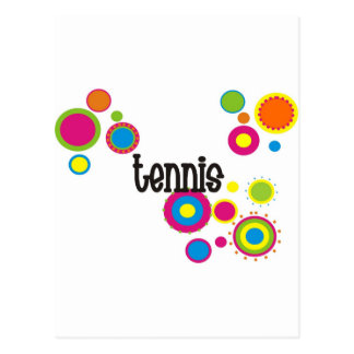 Tennis Cool Polka Dots Postcard