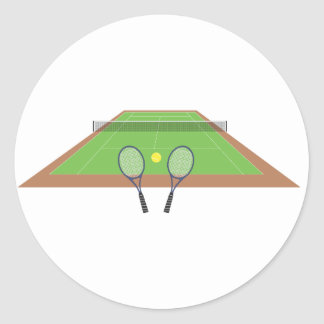 Tennis Court and Racket Stickers