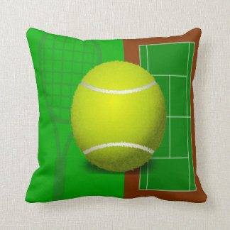 Tennis Court and Racquets Cushion
