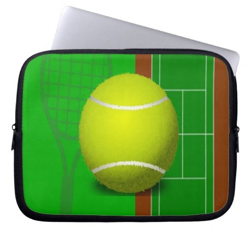 Tennis Court and Racquets Laptop Sleeve