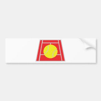 tennis court icon bumper sticker