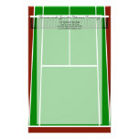Tennis Court Layout Graphic Stationery Design