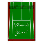 Tennis Court Layout Graphic Stationery Note Card