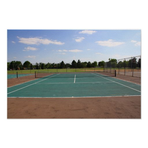 Tennis Court Posters