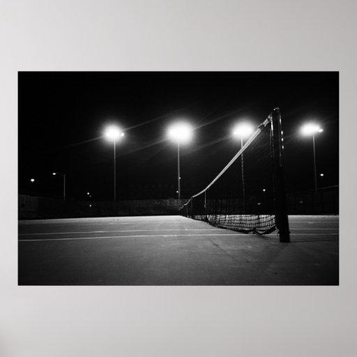 tennis court poster