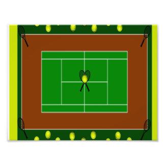 Tennis Court & Tennis Racquets Photo Art