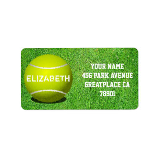 Tennis Custom Ball Address Label