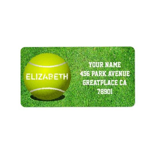 Tennis Custom Ball Address Label