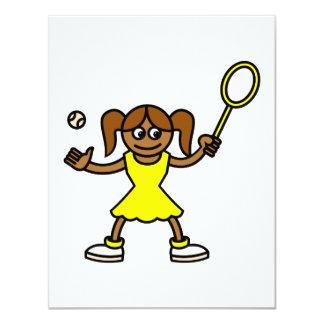 Tennis Cutie 11 Cm X 14 Cm Invitation Card