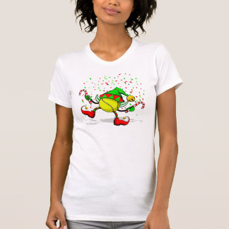 Tennis Dancing Christmas Elf T-Shirt
