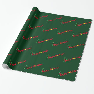 Tennis Dancing Christmas Elf Wrapping Paper